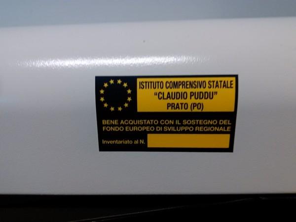 """Laboratori mobili - Etichetta del carrello per la ricarica di tablet e notebook: Scuola Secondaria di Primo Grado """"Don Bosco"""" (POMM81601B)"""